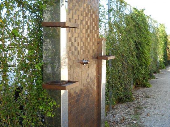 Box doccia da esterno il meglio del design degli interni - Doccia esterna da giardino ...