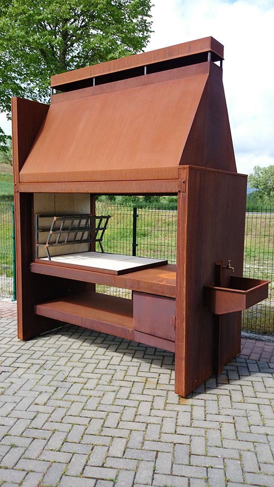 Gallery of barbecue in acciaio cor ten smontabile piano cottura in per legna with piano cottura - Piano cottura da esterno ...